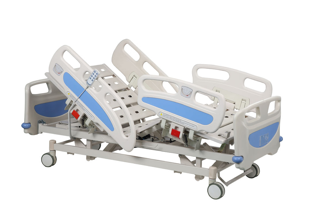 ICU Household Nursing Hospital Bed With Wheels High Grade 4pcs ABS Handrail